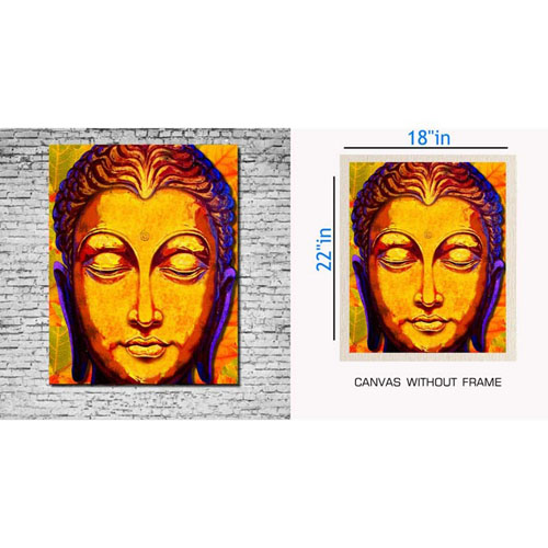 Bazaarmantri |Buddha Canvas Painting Without Frame Large Size